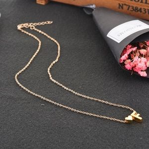 Jewelry - Dainty Gold Heart Monogram 'F' Initial Necklace